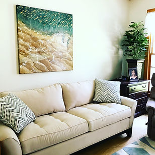 Edge of the Seagrass, original fine art painting on steel. on Wall.JPG