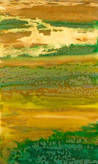 "Strata, Original Painting on Steel, 40""H x 24""W x 1.5""D"