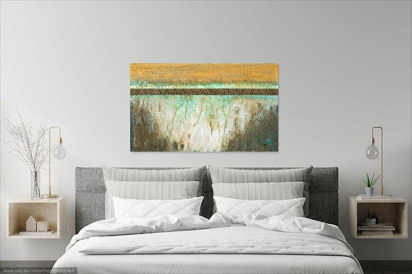 "Spiritual Journey, Original Painting on Steel, 24""H x 40""W x 1.5""D"