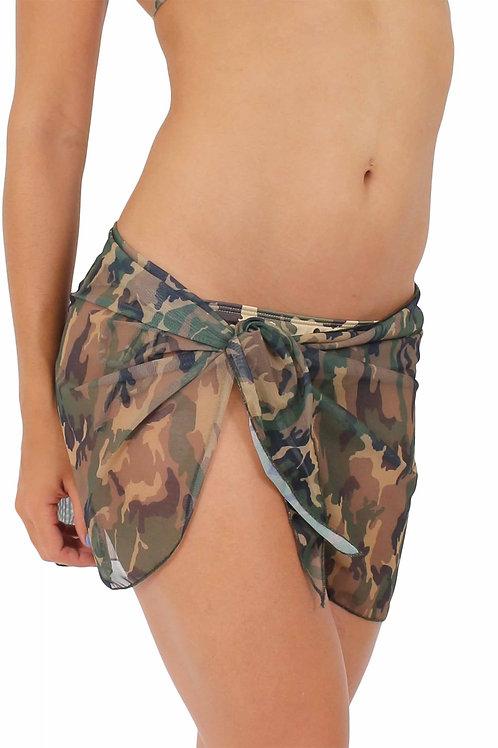 CAMO CAMOUFLAGE Sarong -Cover-Up - Wrap - Pareo: Short Length