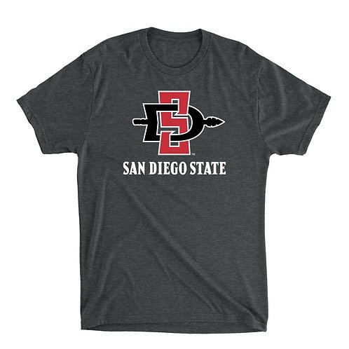 Official NCAA SDSU Aztecs - PPSDS04 Mens / Womens Premium Triblend T-Shirt