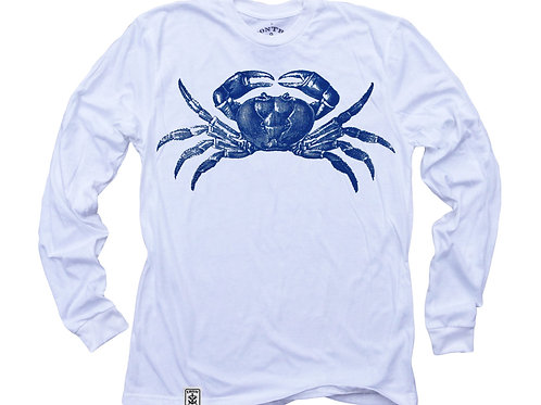 Maryland Blue Crab: Organic Fine Jersey Long Sleeve T-Shirt