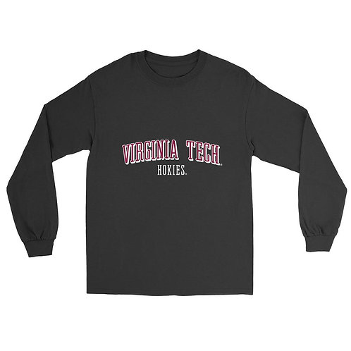 Official NCAA Virginia Tech Hokies Mens/ Womens Boyfriend Long Sleeve Tee