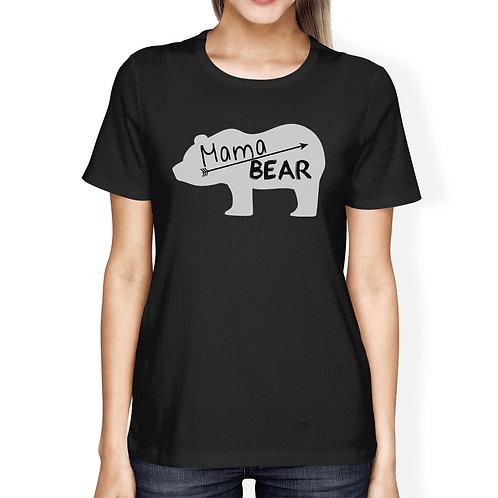 Mama Bear Women's Black Short Sleeve Top Perfect Summer Trip Shirt