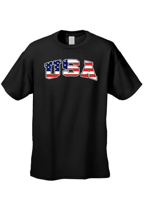 USA Flag T Shirt Men's American Pride Short Sleeve Tee