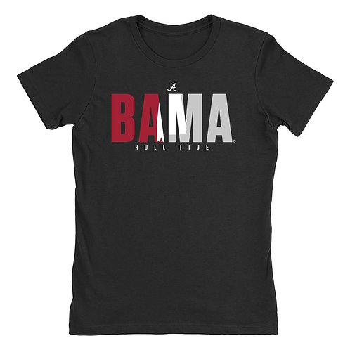 Official NCAA Alabama Roll Tide - State Pride 18ALPRD Womens Boyfriend Fit Tee
