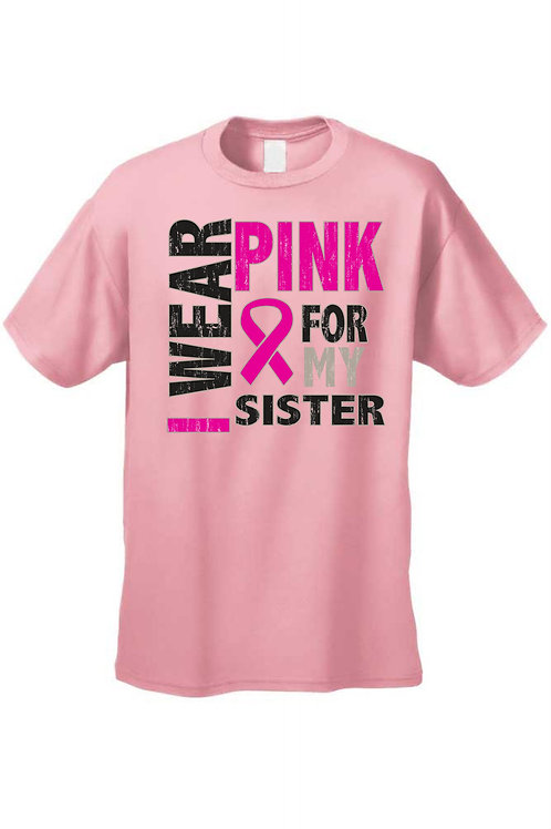 Unisex T Shirt Breast Cancer Awareness I Wear Pink for My Daughter