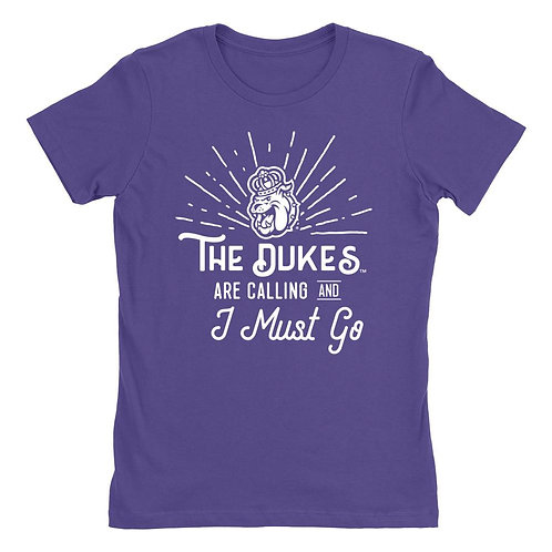 Official NCAA James Madison Dukes - 18JMU001 Womens Boyfriend Fit Tee