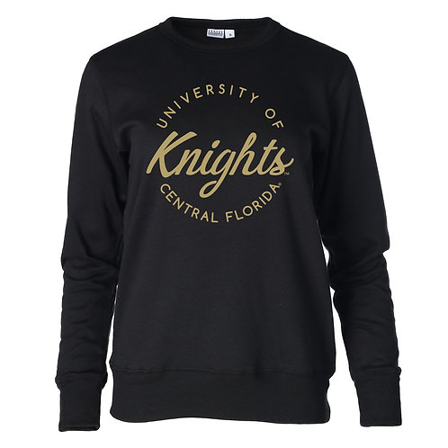 Official NCAA UCF Knights Women's Fleece Long Sleeve Premium Sweatshirt