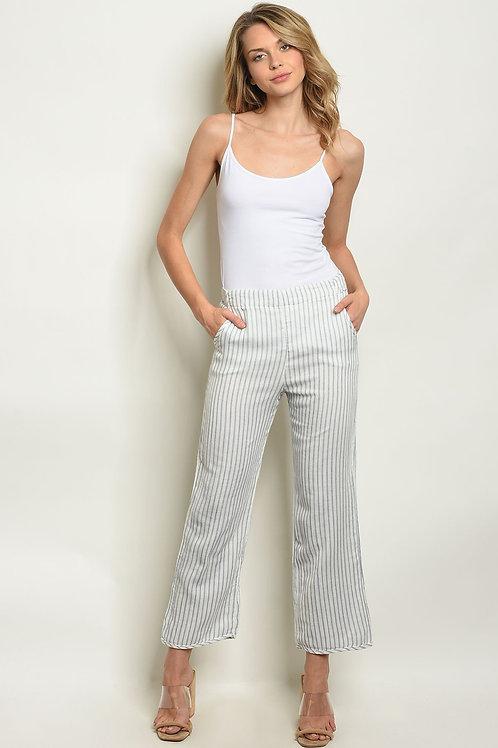 White Stripes Pants