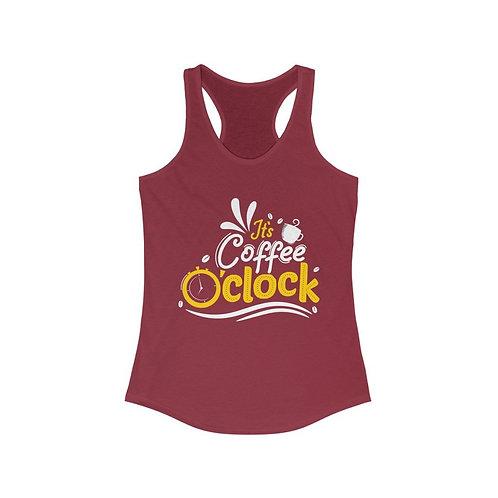 It's Coffee O'Clock Racerback Tank Top