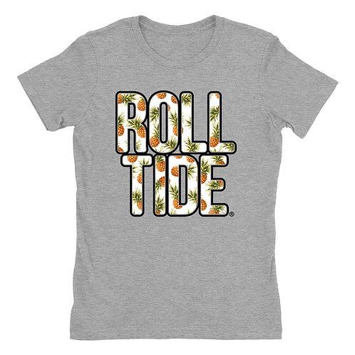 Official NCAA Alabama Roll Tide - Hawaiian Floral  Womens Boyfriend Fit Tee