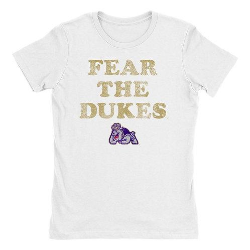 Official NCAA James Madison Dukes - CL18JMU45 Womens Boyfriend Fit Tee
