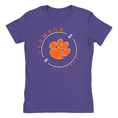 Official NCAA Clemson Tigers - RYLCL11 Womens Boyfriend Fit Tee