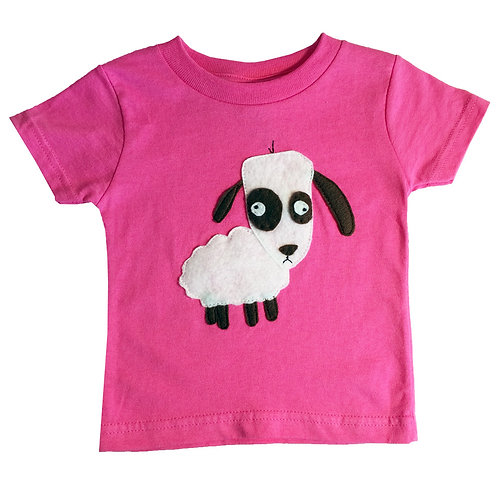 Kids T-Shirt - Sheep - Mi Cielo X Matthew Langille - Raspberry