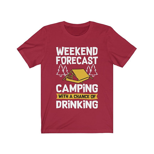 Camping With a Chance of Drinking Short Sleeve Tee