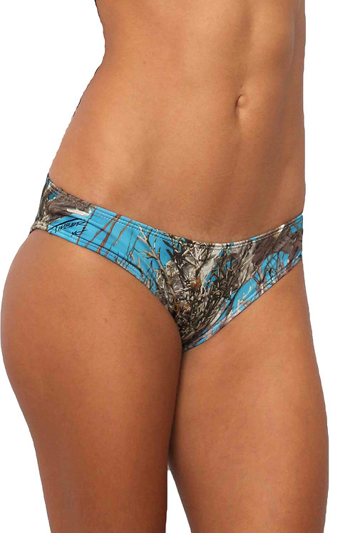 Women's Blue Camo Bikini True Timber Hipster Bottom ONLY Made in the USA