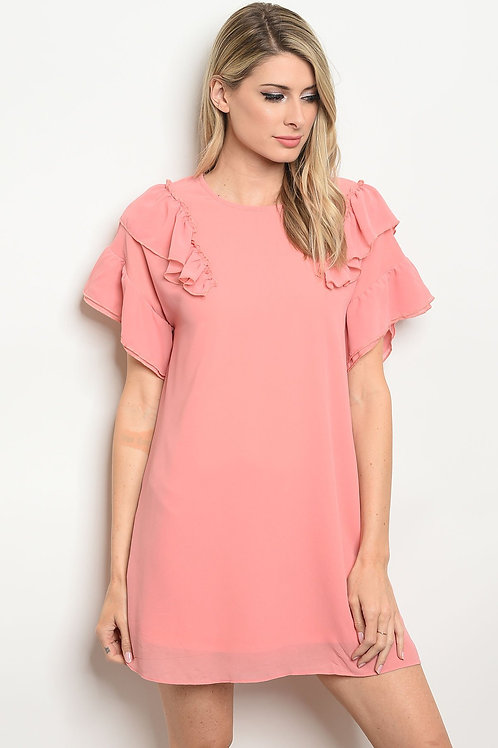Womens Ruffle Dress