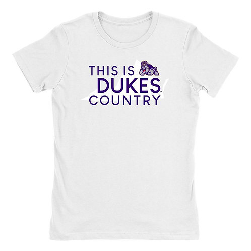 Official NCAA James Madison Dukes - 247JMUCY Womens Boyfriend Fit Tee