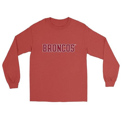 Official NCAA Santa Clara Broncos PPSCU13 Unisex Boyfriend Long Sleeve Tee