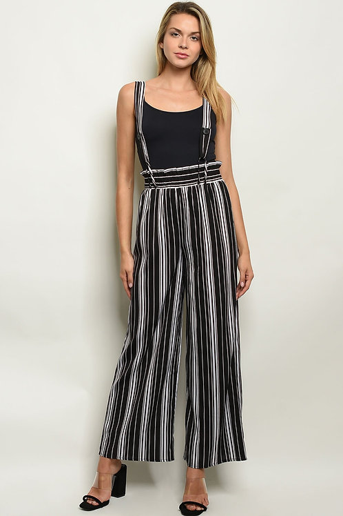 Black Stripes Overalls