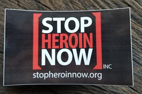 "Stop Heroin Now Bumper Sticker 3"" x 5"""