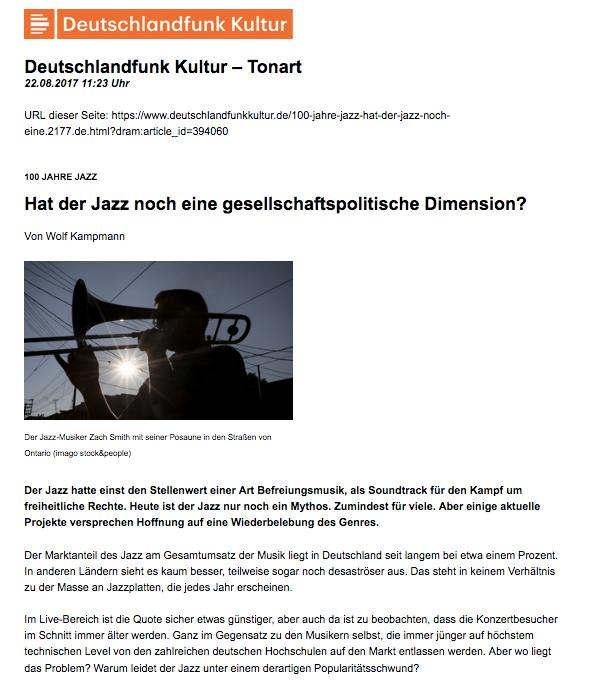 Deutschlandfunk Kultur_ Hat der Jazz noc