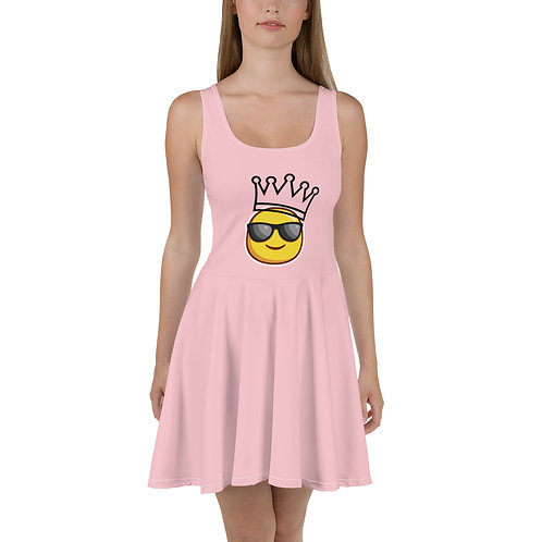 PINK SMILEY KING Skater Dress