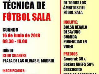 I JORNADA TÉCNICA DE FÚTBOL SALA D21 16 de JUNIO