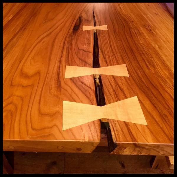 slab table close-up
