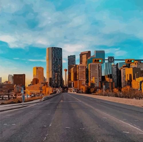 Downtown Calgary Centre Street