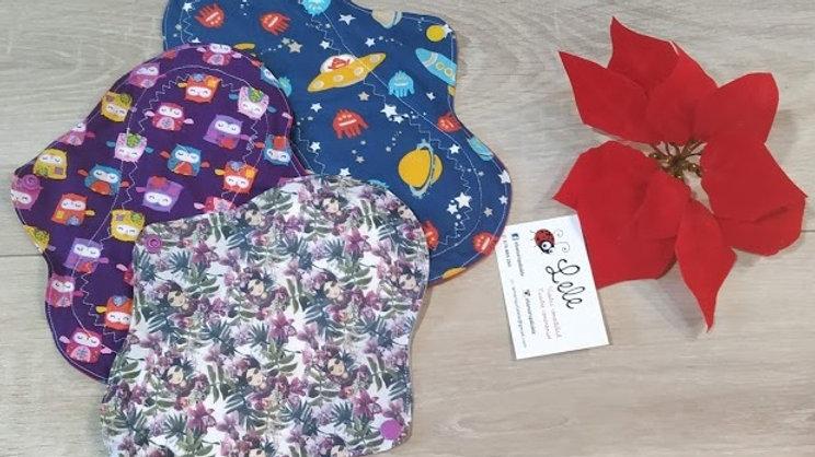 Pack 2 compresas normales y 1 de noche