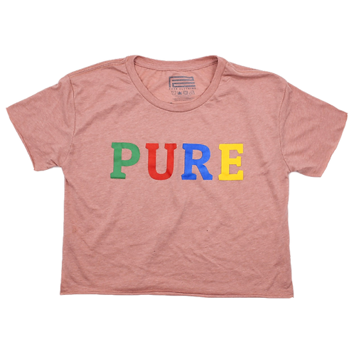 PURE CROPPED TEE