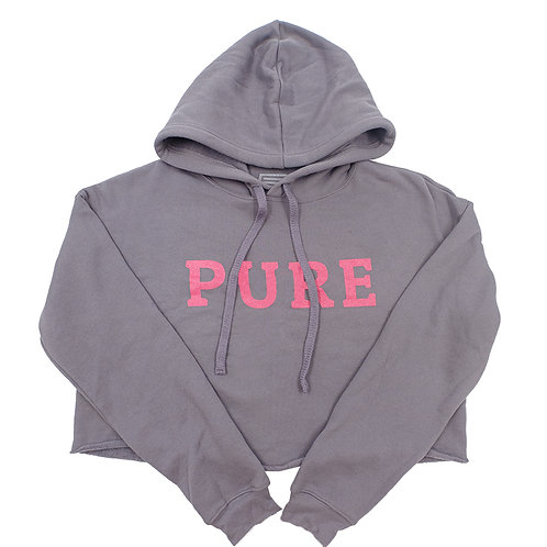 PURE  HOODIE CROPPED