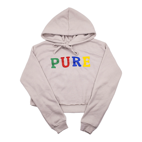 PURE CROPPED HOODIE