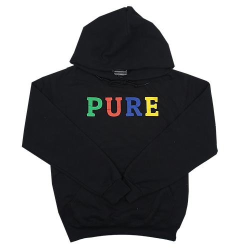 PURE MULTI COLOR HOODIE BLACK