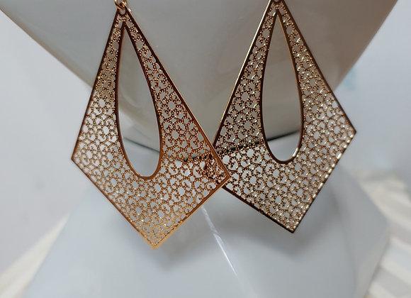 Lace of Gold Drop Earrings