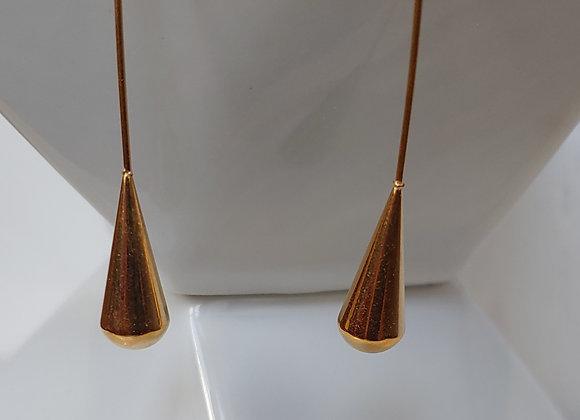 Golden Rain Drop Earrings