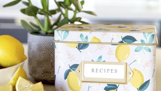Lemon Zest Recipe Tin