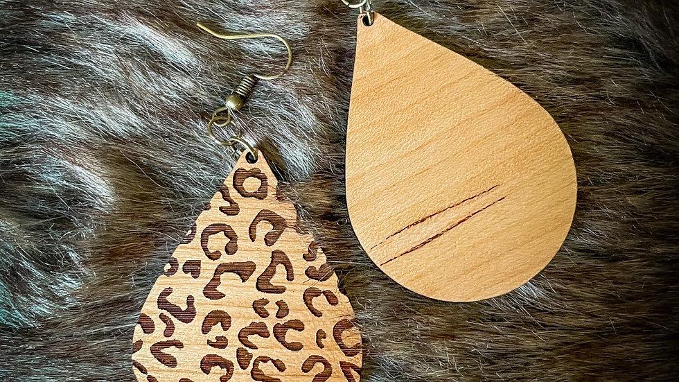 Hardwood Leopard Print Teardrop