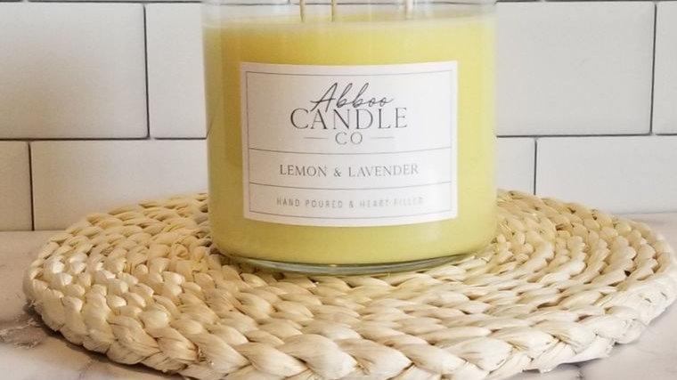 Lemon & Lavender 3 Wick Soy Candle