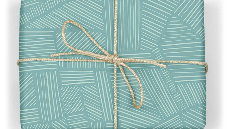 Linear Wrapping Paper Sheet