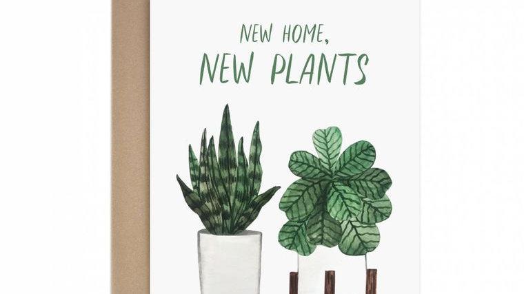 New Home New Plants Housewarming Greeting Card