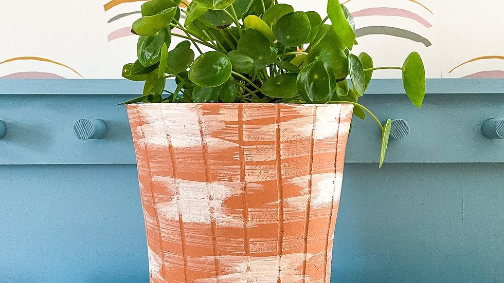 Large White Washed Terracotta Planter