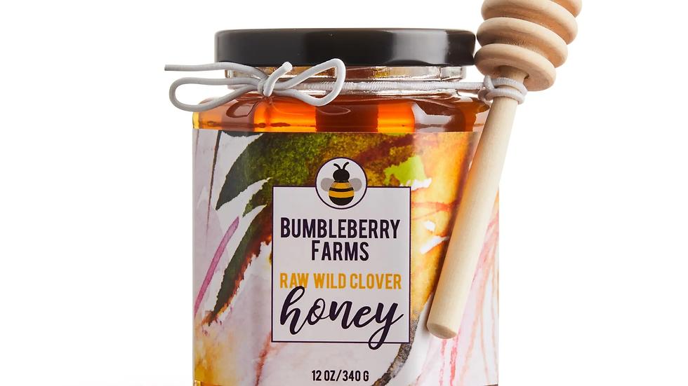 Clover Honey Jar w/ Dipping Wand
