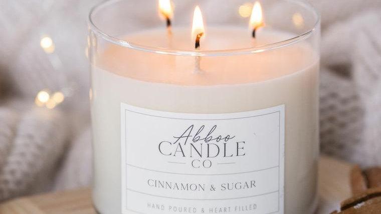 Cinnamon & Sugar 3 Wick Soy Candle