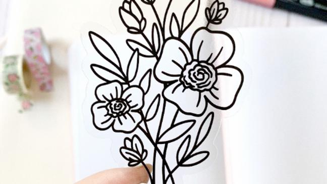 Clear Bouquet Sticker