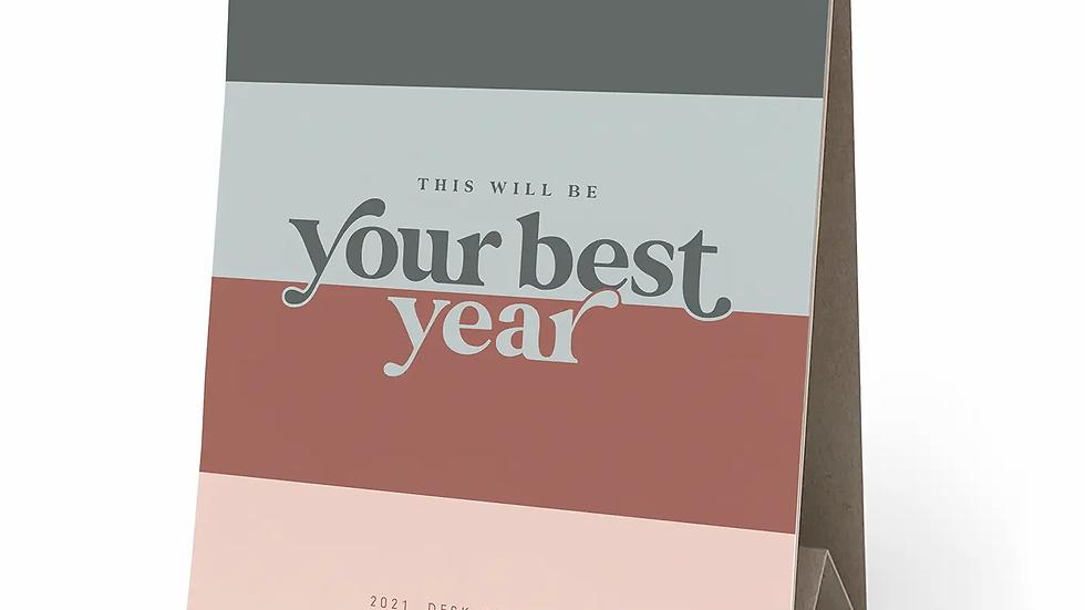 2021 Best Year Yet Inspiration Easel Desk Calendar