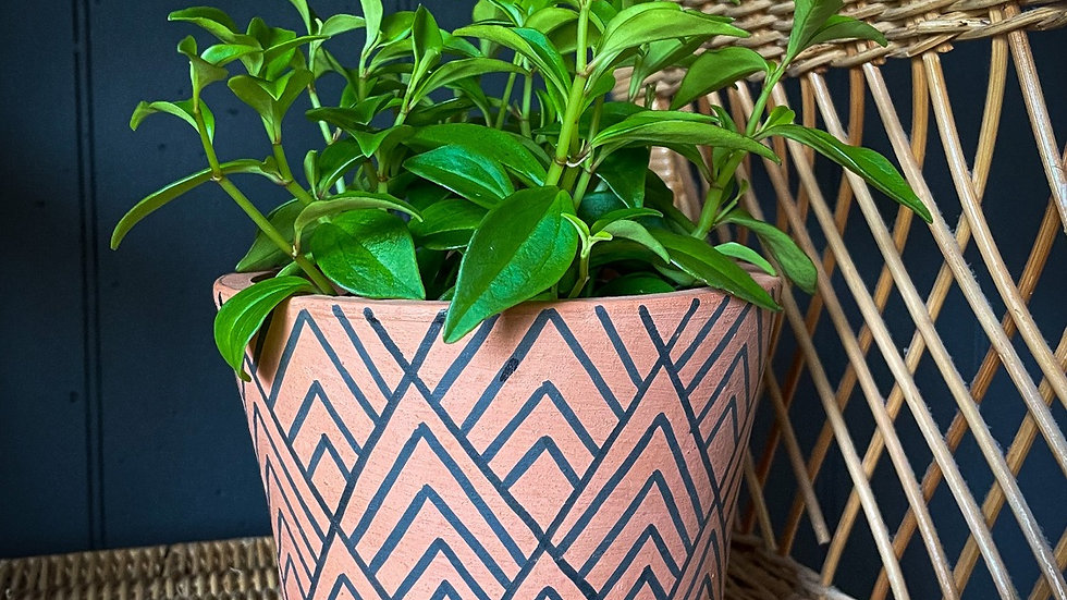 Footed Geo Terracotta Planter