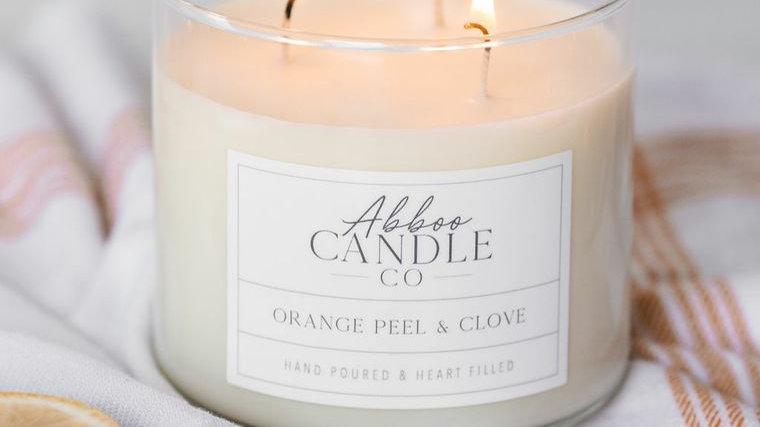 Orange Peel & Clove 3 Wick Soy Candle